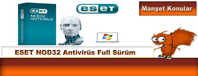ESET NOD32 Antivirus 9.0.386.0 Türkçe 2016 Full indir