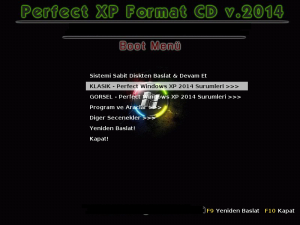 Perfect Xp Format CD  Full turkce indir