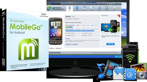 Wondershare Mobilego for Android 7.8.0.39 Full indir ( Telefon içerik Yedekleme Programı )