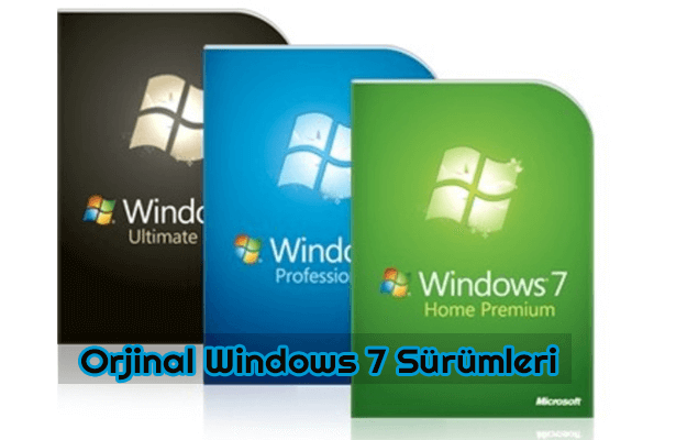Windows 7 Orjinal SP3