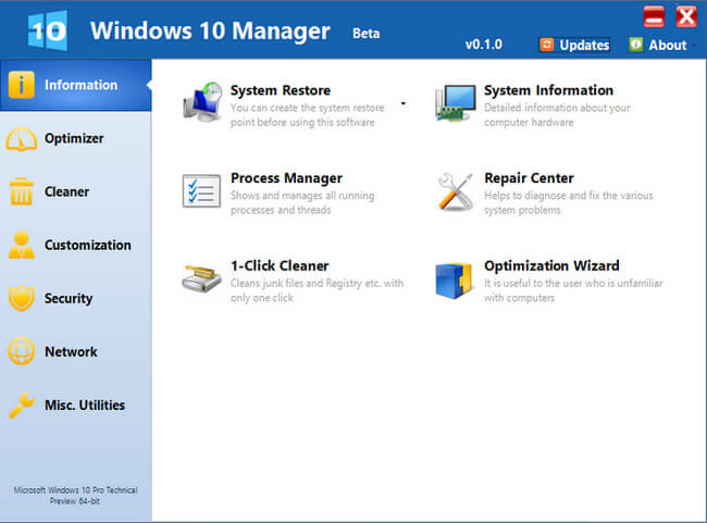 Windows 10 Manager Türkçe Full