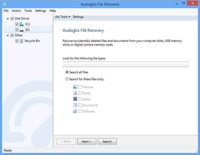 Auslogics File Recovery Full indir
