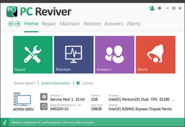 PC Reviver 2.0.5.20 Full Katılımsız indir
