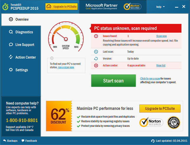 TweakBit PCSpeedUp Full indir