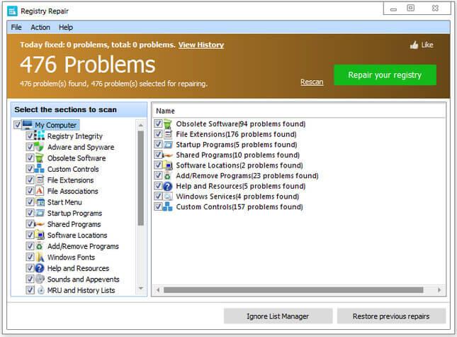 Glarysoft Registry Repair full indir