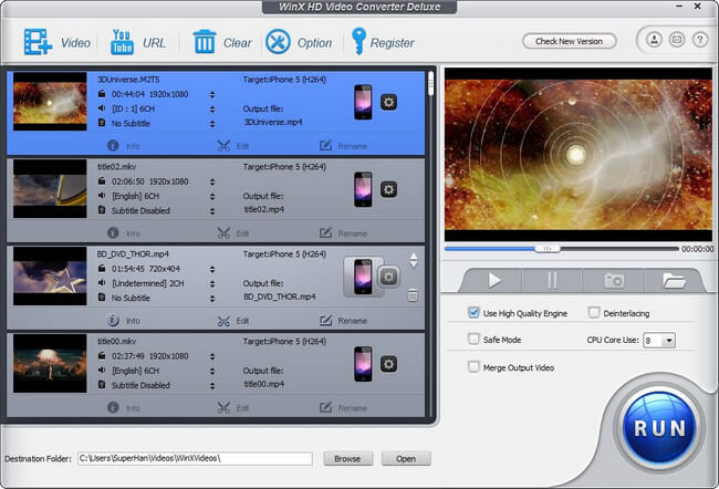 WinX HD Video Converter Deluxe Full