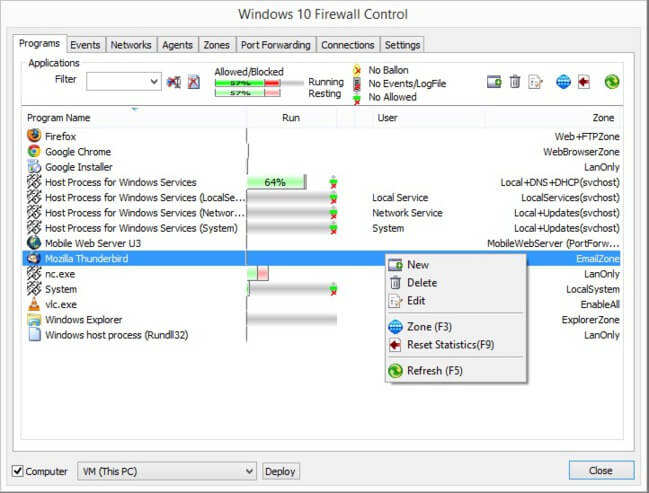 Windows 10 Firewall Control