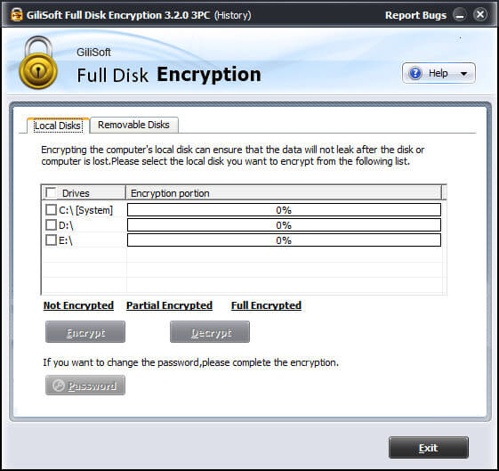GiliSoft Full Disk Encryption full indir