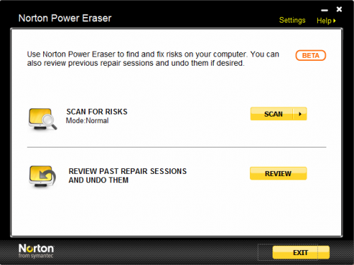 Norton Power Eraser full indir