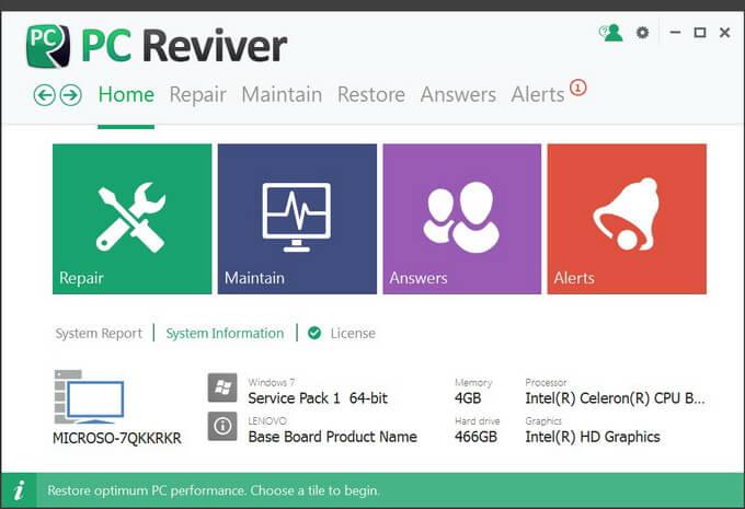 ReviverSoft PC Reviver Full indir