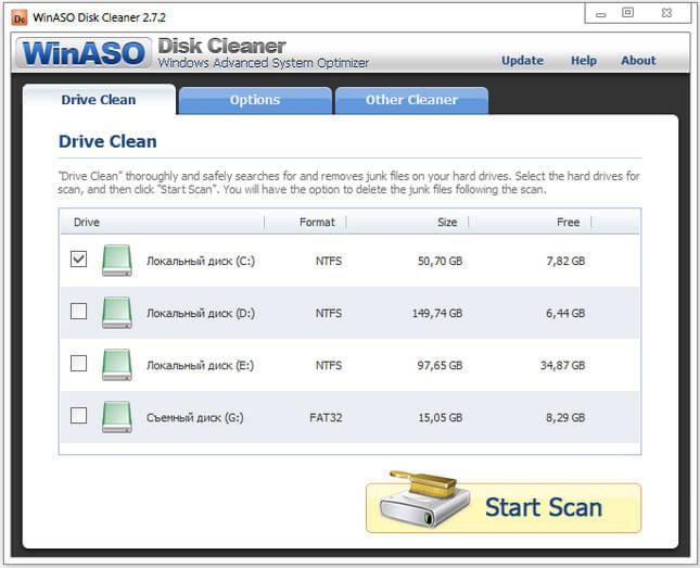 WinASO Disk Cleaner Full