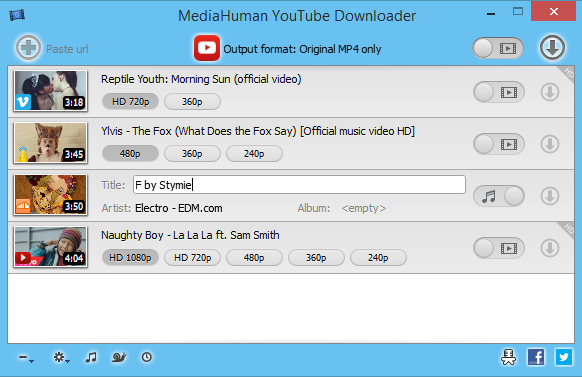 MediaHuman YouTube Downloader Full indir