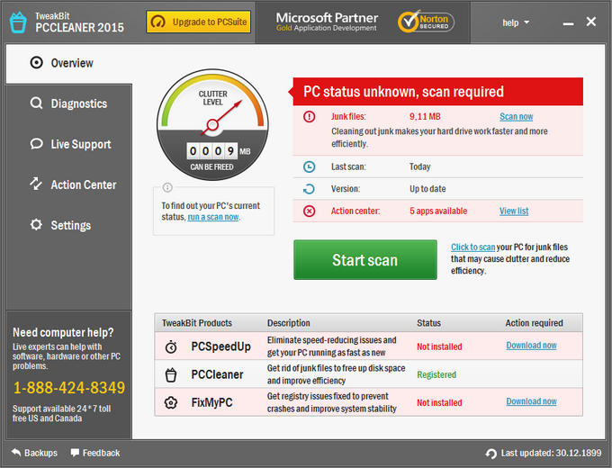 TweakBit PCCleaner 1.6.10.5 Full indir