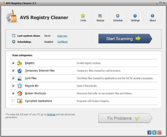 AVS Registry Cleaner Full indir