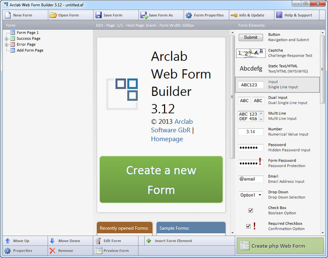 Arclab Web Form Builder 4.3.0 Full indir
