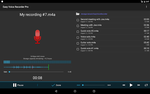 Easy Voice Recorder Pro Full