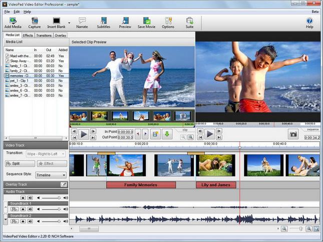 NCH VideoPad Video Editor Pro Full indir