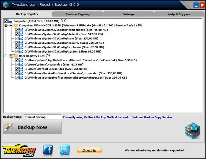 Registry Backup Full