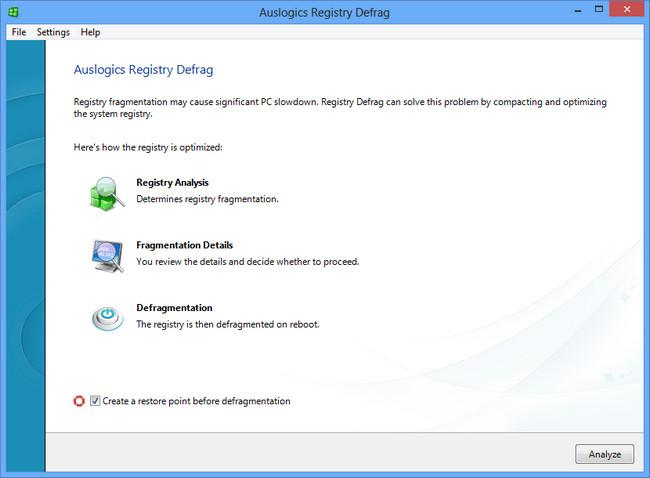 Auslogics Registry Defrag Full indir