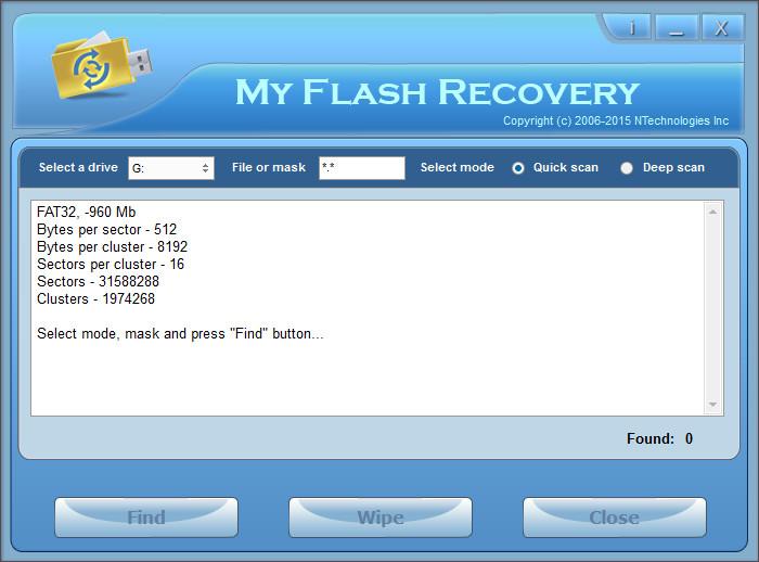 USB Bellek Veri Kurtarma Programı