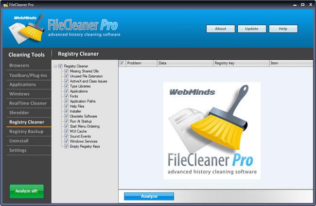WebMinds FileCleaner Pro Full indir