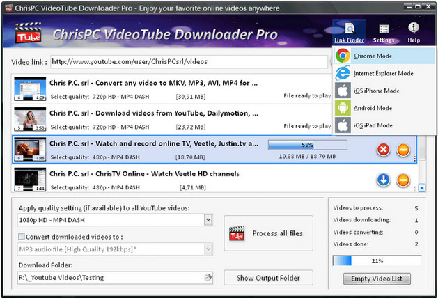 ChrisPC VideoTube Downloader Pro Full İndir