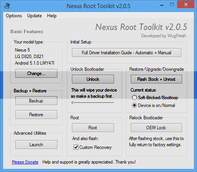 Nexus Root Toolkit Full indir