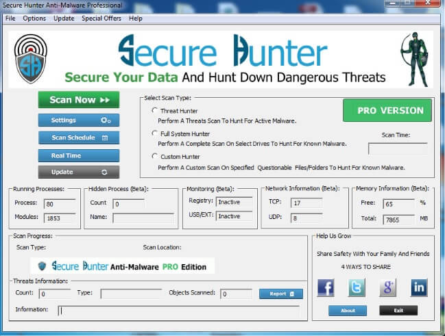 Secure Hunter Anti-Malware Pro Full