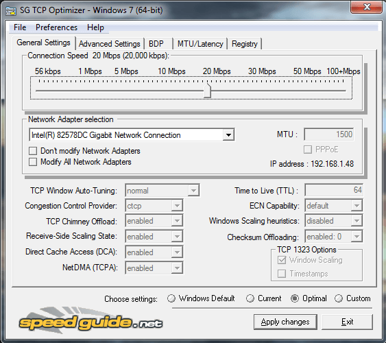 SG TCP Optimizer Full