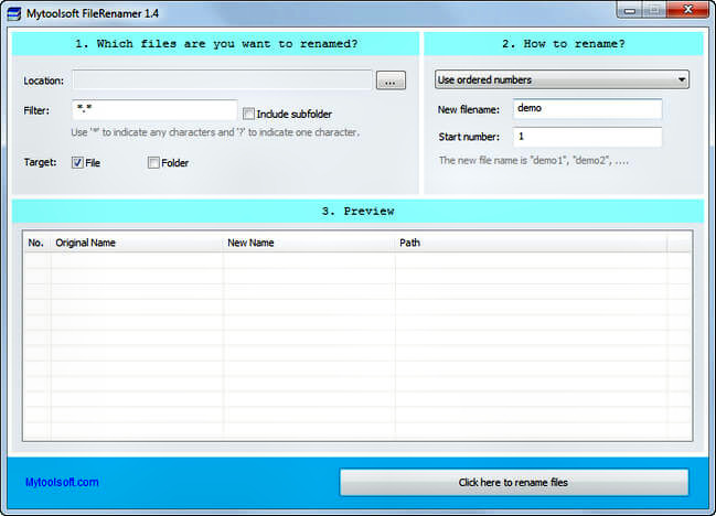 Mytoolsoft FileRenamer inidr