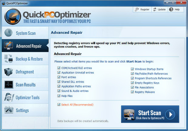 QuickPCOptimizer Full