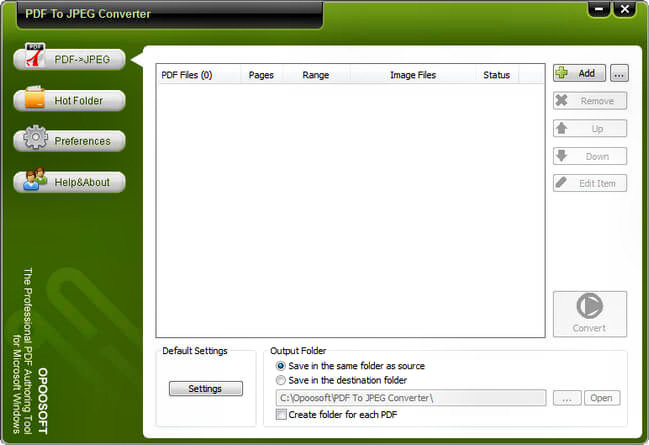Opoosoft PDF To JPEG Converter Full