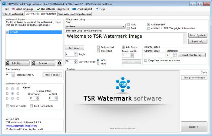 TSR Watermark image Pro Full