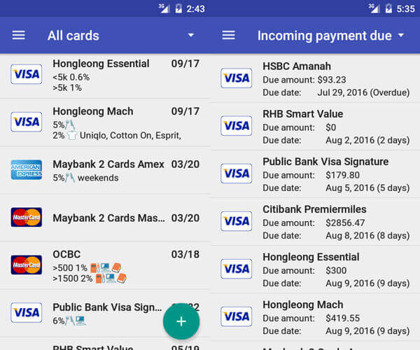 Credit Card Manager Pro Apk Full