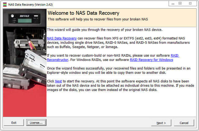 Runtime NAS Data Recovery Full