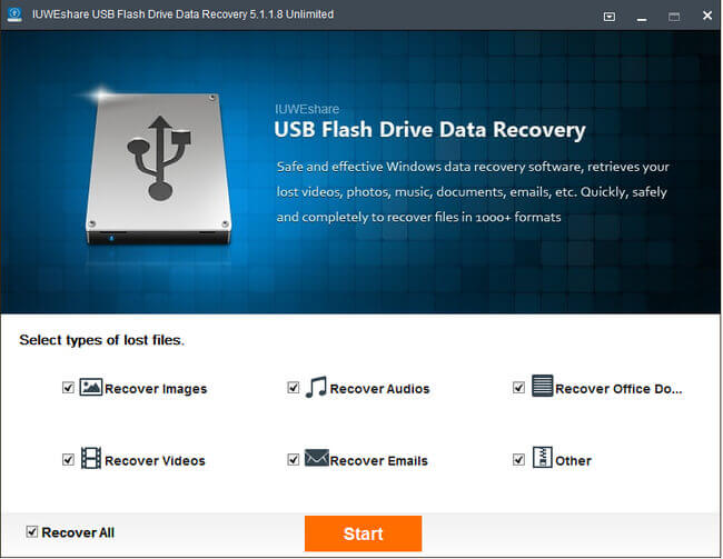 iUWEshare USB Flash Drive Data Recovery Full