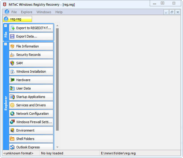 MiTeC Windows Registry Recovery Full
