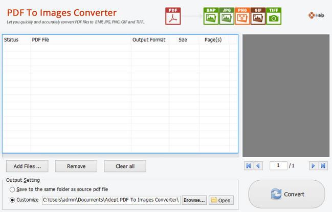 Adept PDF to image Converter Full