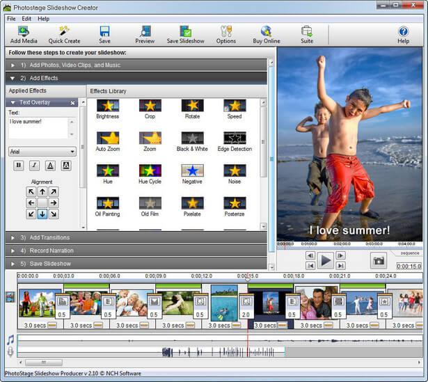 NCH PhotoStage Slideshow Producer Pro Full
