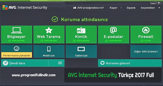 AVG İnternet Security Türkçe Full