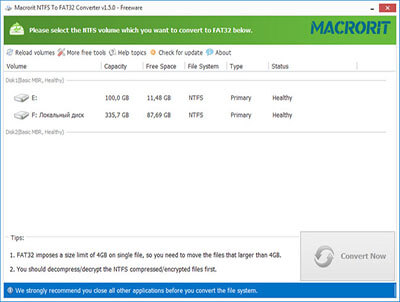 Macrorit NTFS to FAT Converter Full