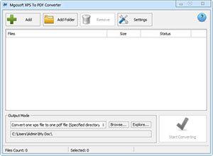 Mgosoft XPS To PDF Converter Full