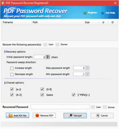 PDF Password Recover Full