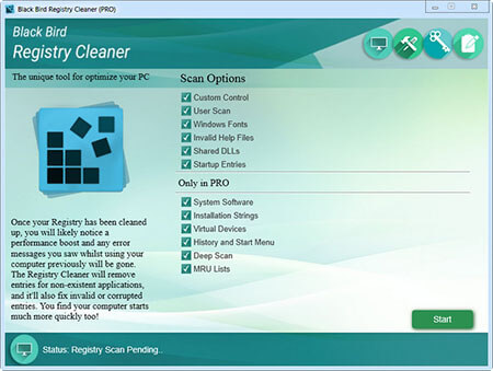 Black Bird Registry Cleaner Pro Full 1.0.0.7 İndir