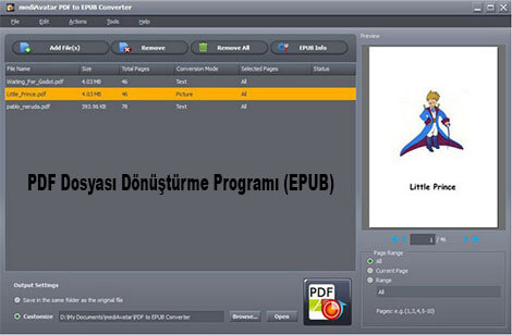 mediAvatar PDF to EPUB Converter Full