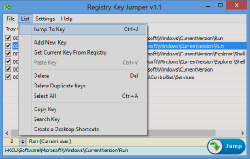 Registry Key Jumper Full