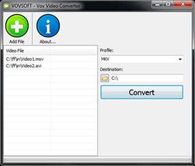 VovSoft Video Converter